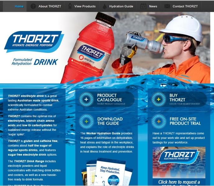Thorzt Hydration Drink Content Marketing