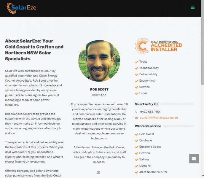 SolarEze Website and Foundation SEO