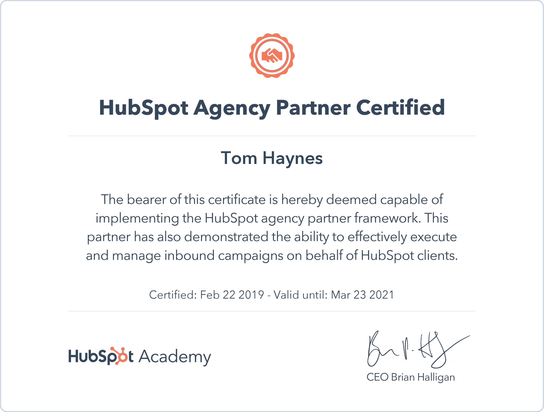 hubspot certification agency certified partner resorption orthodontics root